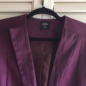 Kate Spade Saturday tuxedo jacket purple XS blazer